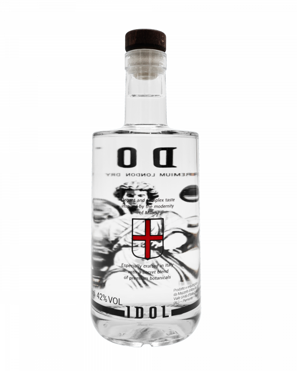 Idol Gin bottiglia - retro